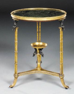 A French gilt- and patinated-b