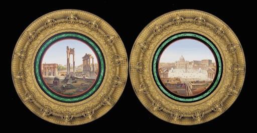 A pair of framed Roman micro-m