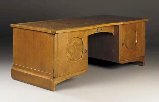 A Leather and Oak Desk