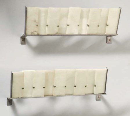 A Pair of Metal and Alabaster