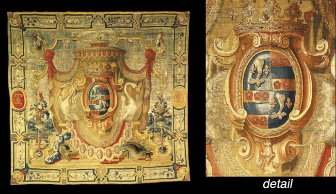 A LOUIS XIV ARMORIAL TAPESTRY