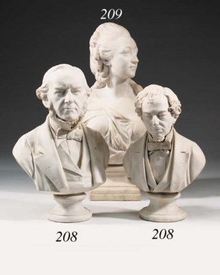 A Victorian Parianware bust of