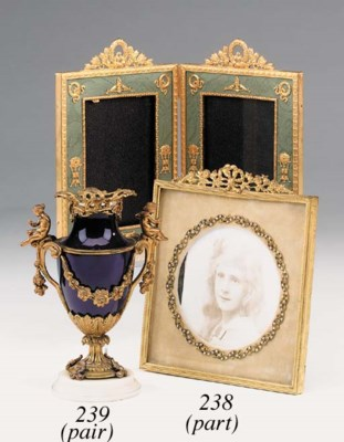 A pair of Napoleon III gilt br