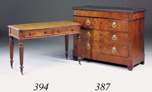 An early Victorian mahogany wr