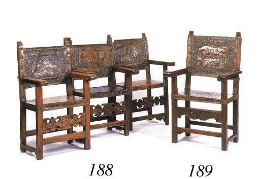 A Spanish walnut armchair
