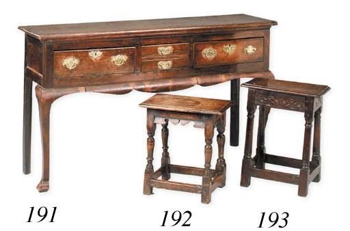 An joined oak stool