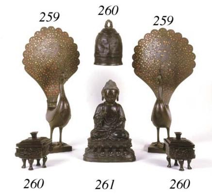 A Chinese late Ming bronze bud