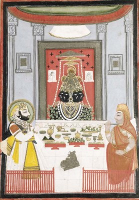 Bhim Singh Worshipping