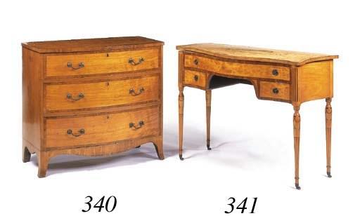 A George III satinwood bowfron