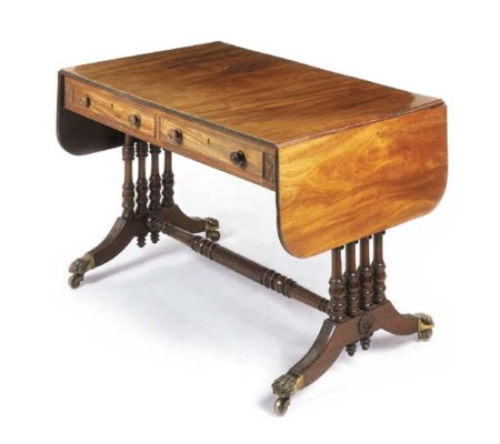 A rosewood sofa table