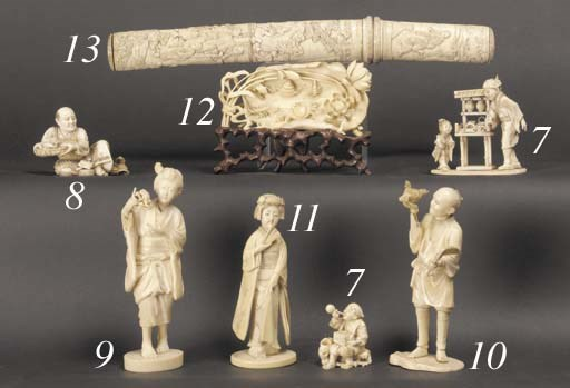 An ivory tanto 19th Century