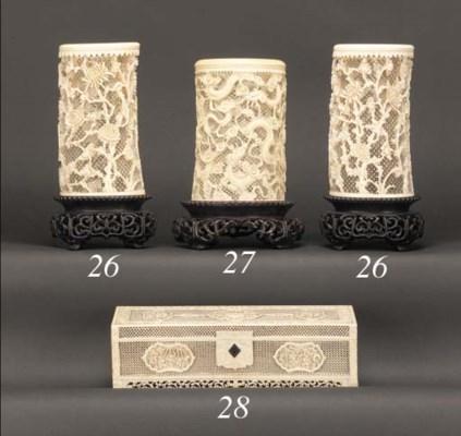 A Cantonese ivory rectangular