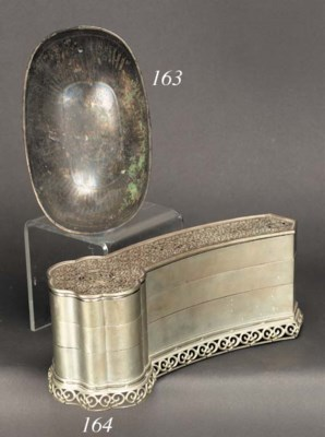 A silvered bronze bowl 19th ce