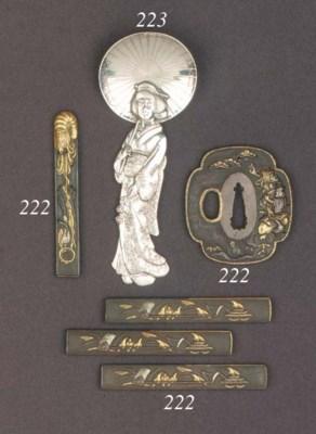 Four Japanese bronze kozuka 19