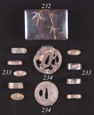 A Japanese iron tsuba 19th Cen