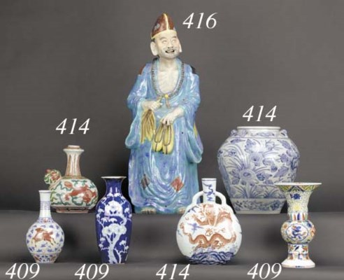 A Chinese blue and white stora