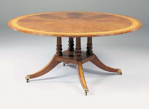 A mahogany, satinwood, burr-ye