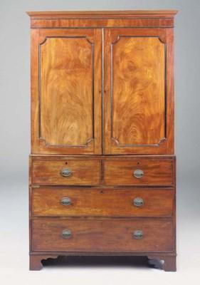 A late George III mahogany lin