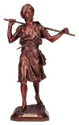 A French bronze model of a tri