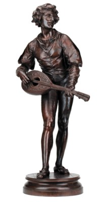 A French bronze figure of a lu