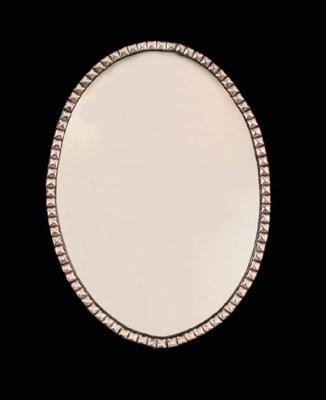 An Irish oval mirror, early 19