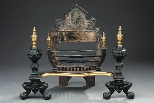 A Victorian brass mounted cast