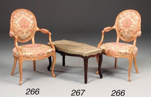 A pair of George III carved gi