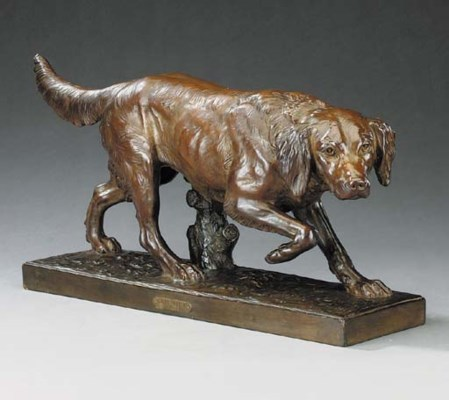 A French bronze patinated terr