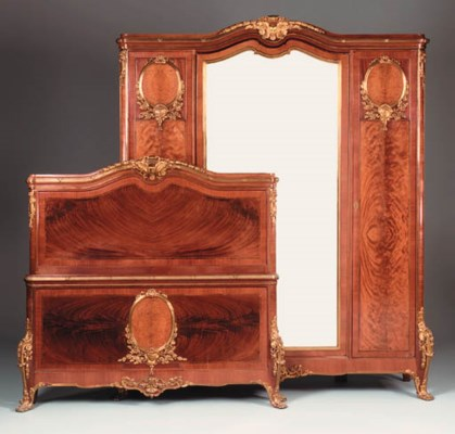 A mahogany and gilt-metal moun