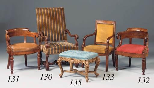 An oak side chair, 19th centur