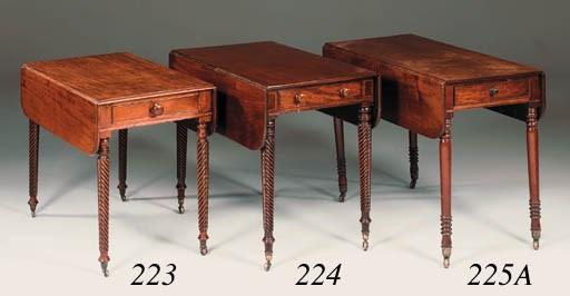 A Regency mahogany Pembroke ta