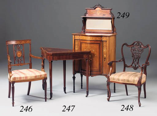 An Edwardian rosewood and marq
