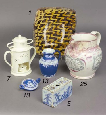 A delft blue and white rectang