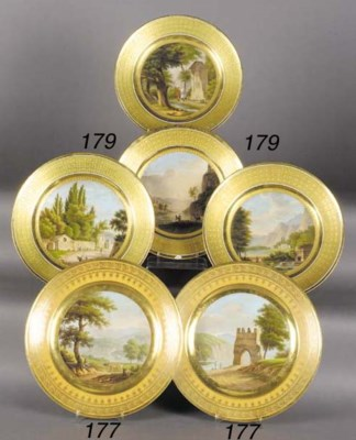Four Paris plates