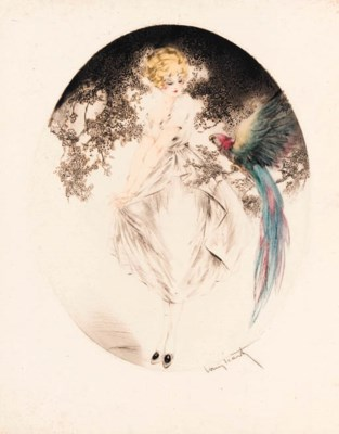 'BLUE MACAW' BY LOUIS ICART
