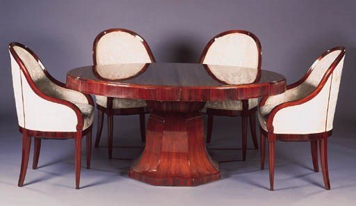 A ROSEWOOD DINING TABLE, ATTRI