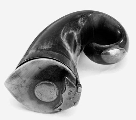 A Scottish brass mounted horn