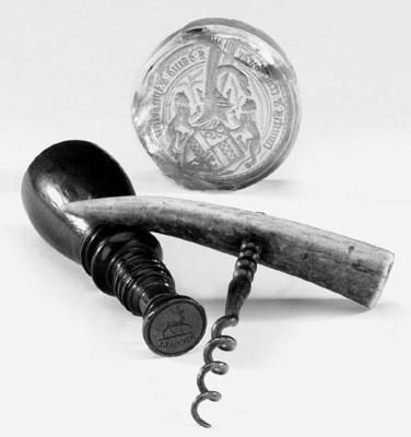 A treen seal, early 19th centu