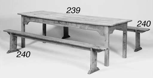A BEECHWOOD FARMHOUSE TABLE, E