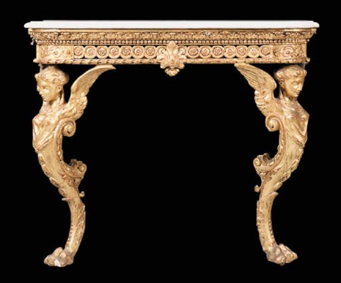 A gilt console table, 20th cen