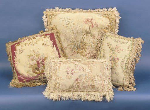 A pair of tapestry-covered cus