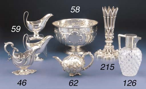 AN EDWARDIAN SILVER PUNCH BOWL