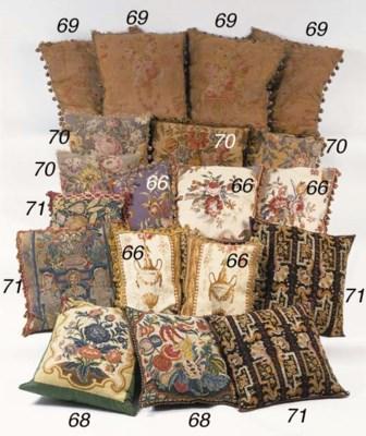 A set of four cushions, 20th c