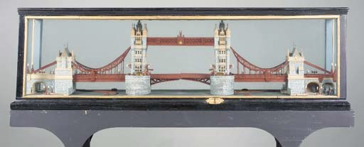 A model of Tower Bridge, late