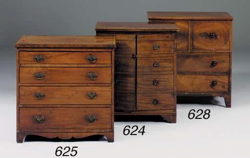 A small mahogany chest, early