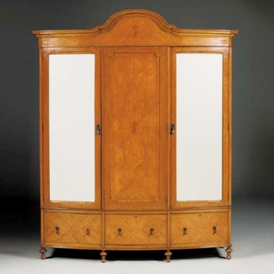 An Edwardian satinwood and cro