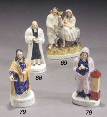 A pair of figures of Christ an