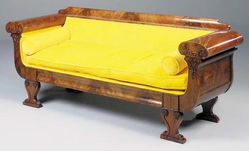 A North European mahogany sofa