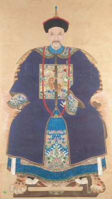 A Chinese ancestor painting 19