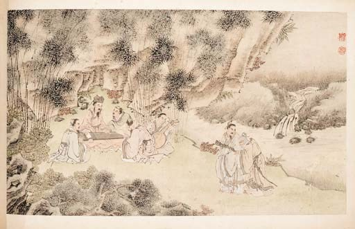 A large Chinese album 19th cen